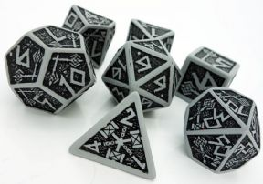 Gray & Black Dwarven Dice Set